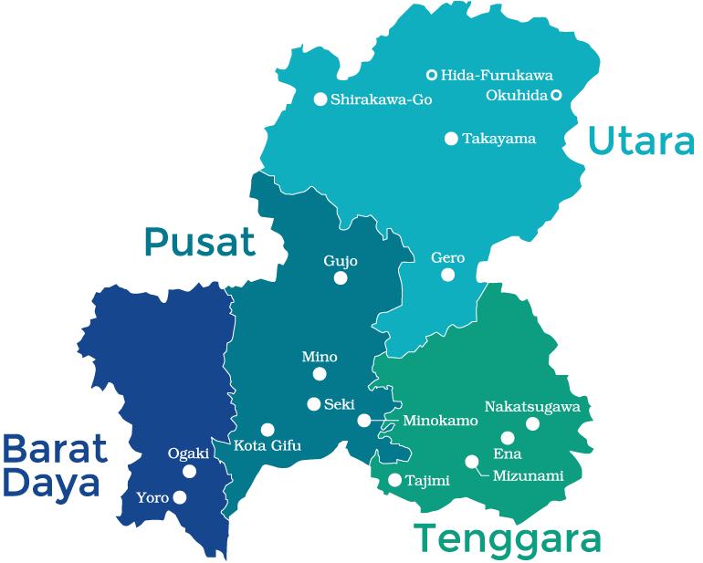 Map of Gifu Prefecture